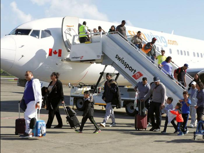 Sunwing arrival figures flying high
